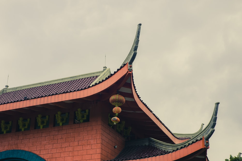brown and black pagoda temple under white clouds during daytime