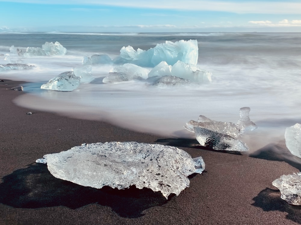 gray rock on gray sand