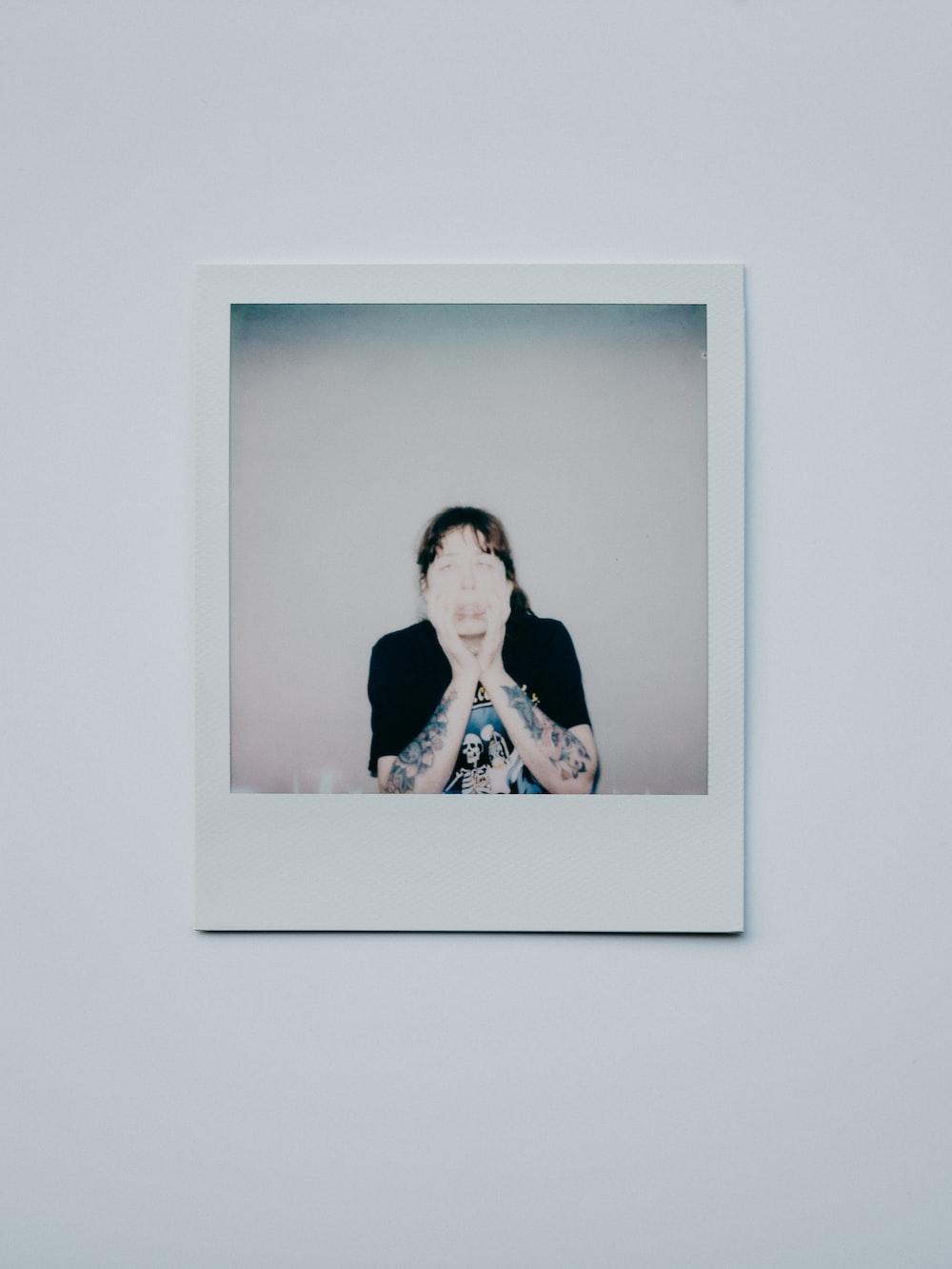 woman in black shirt photo