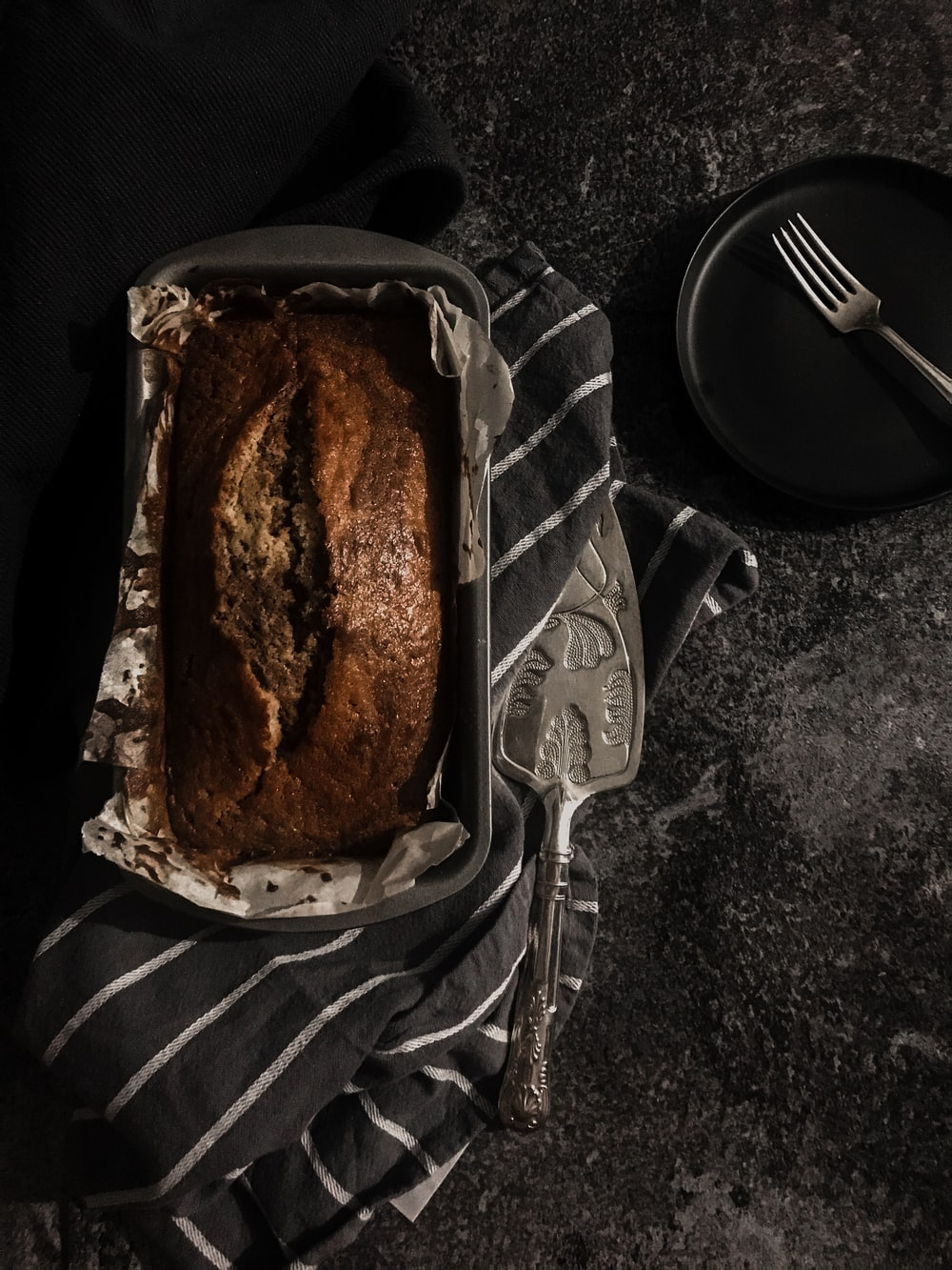 brown bread on stainless steel tray