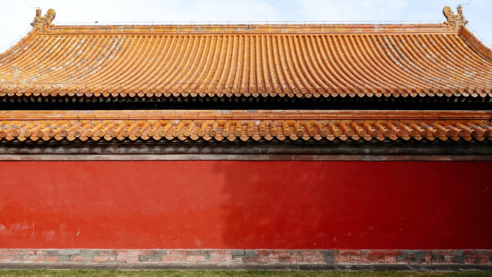 brown and red wooden roof