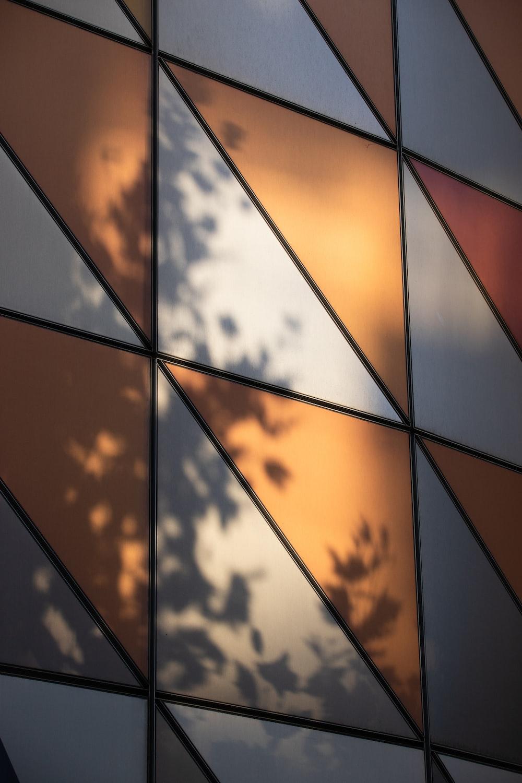 orange and black abstract art