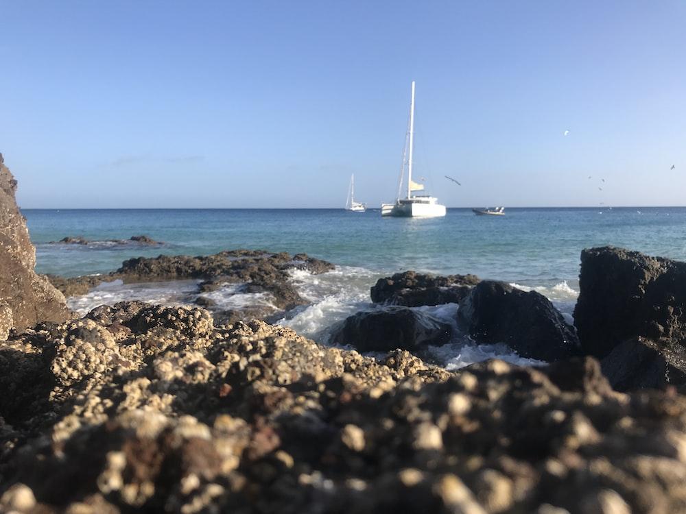 white sailboat on sea during daytime