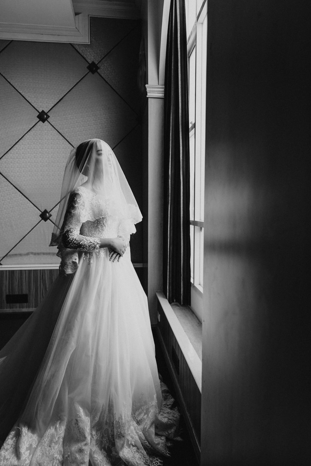 woman in white wedding dress