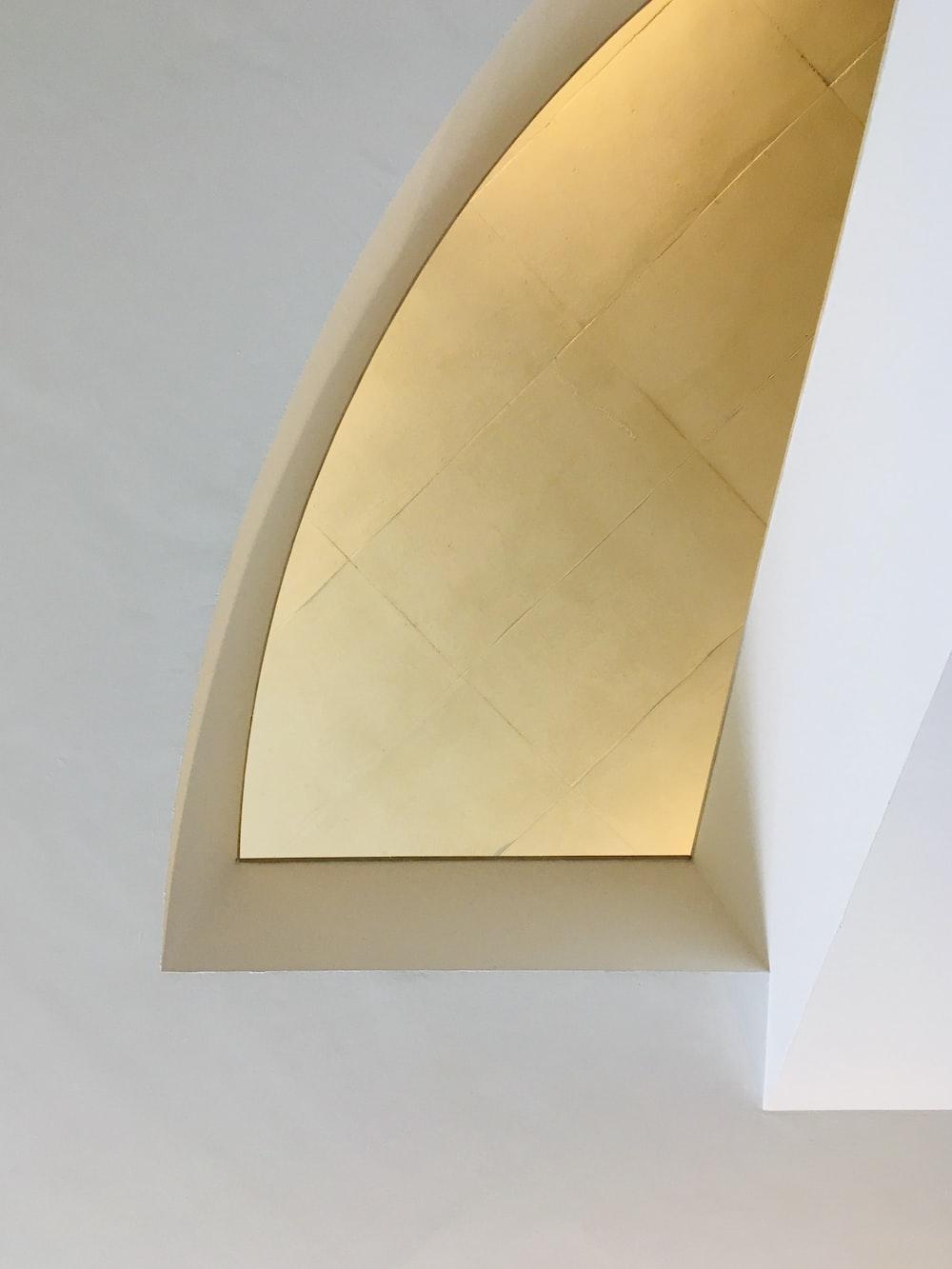 white square frame on white wall