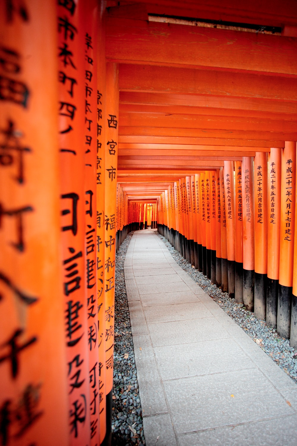 orange and black wooden wall