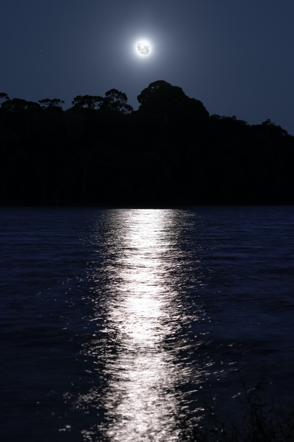 body of water during night time