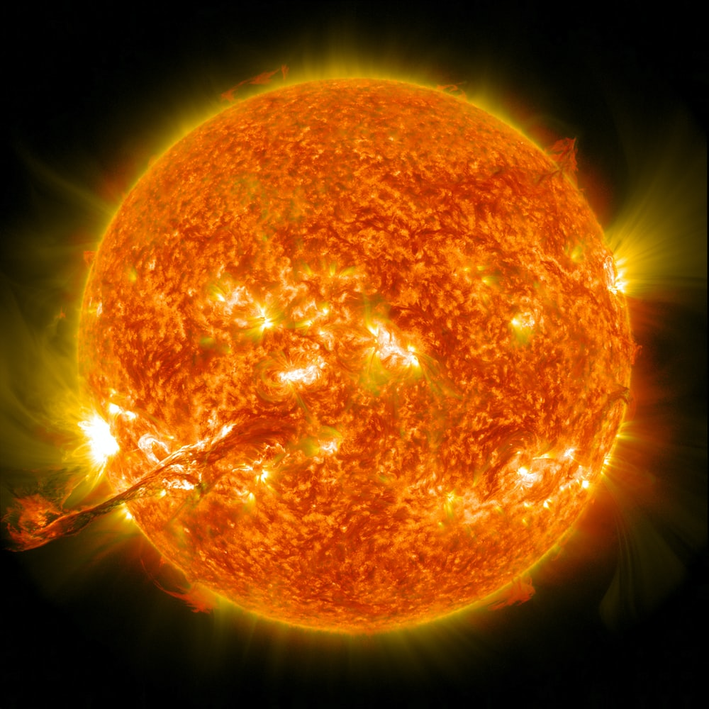 The sun with a corona mass ejection