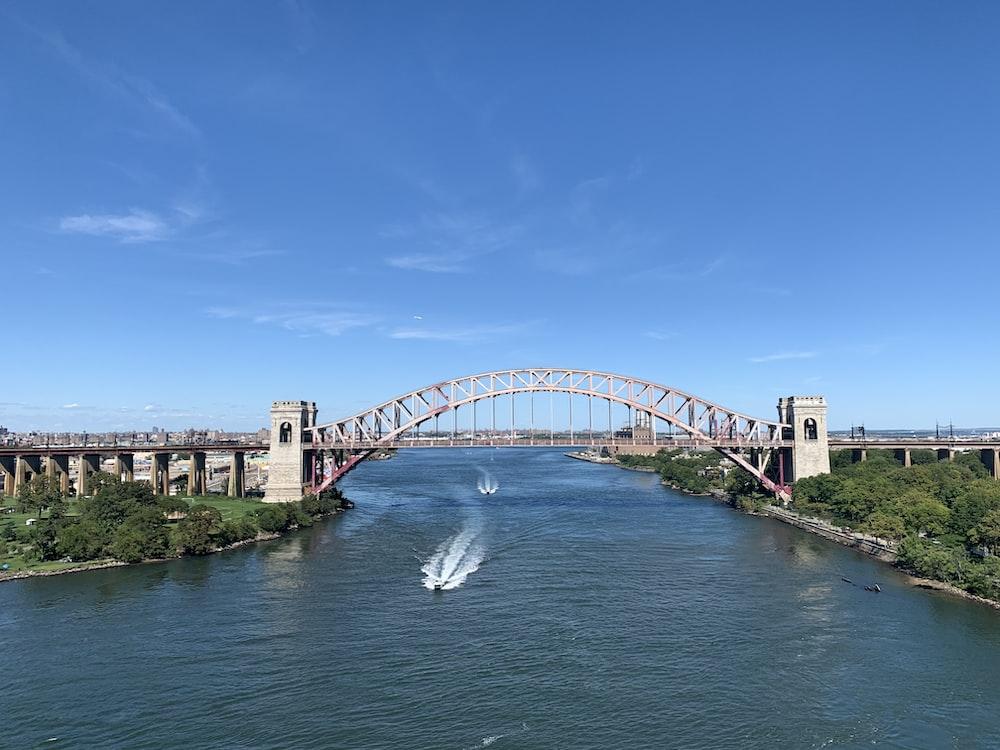 white bridge over river under blue sky during daytime