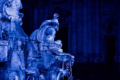 Rome gray concrete statue of man