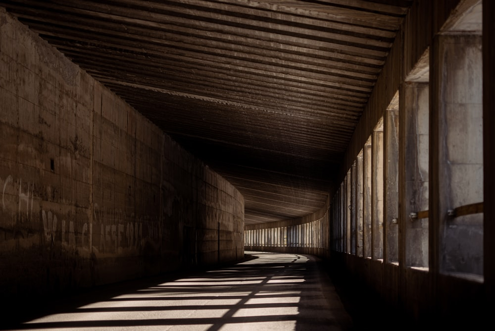 brown wooden tunnel during daytime