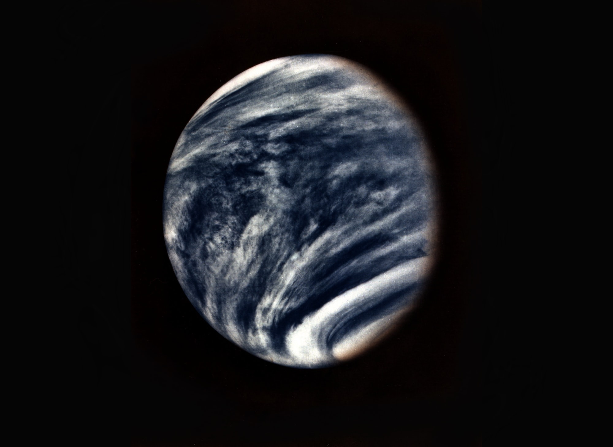 This picture of Venus was captured by the Mariner 10 spacecraft during its approach to the planet in early 1974