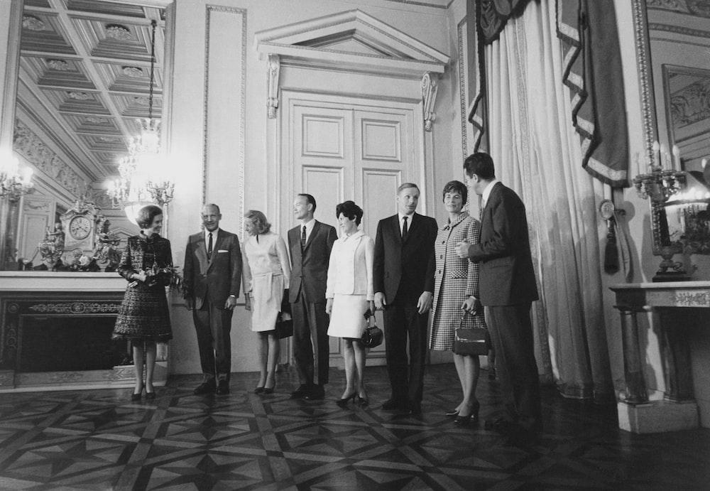 Apollo astronauts pose in Belgium