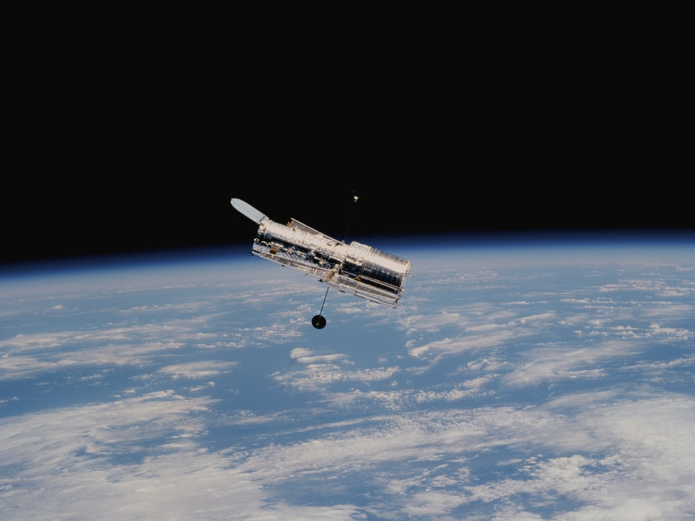 Hubble Space Telescope above earth's atmosphere
