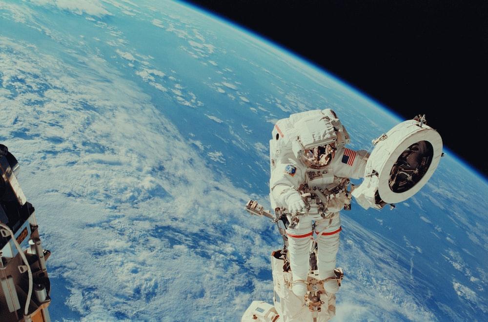 NASA astronaut performs extravehicular activity