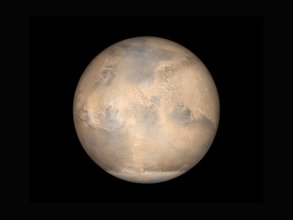 Mars on a black background