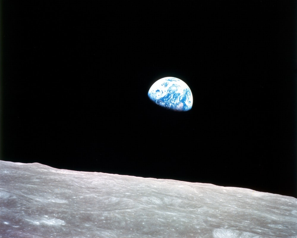 Earth above the lunar surface