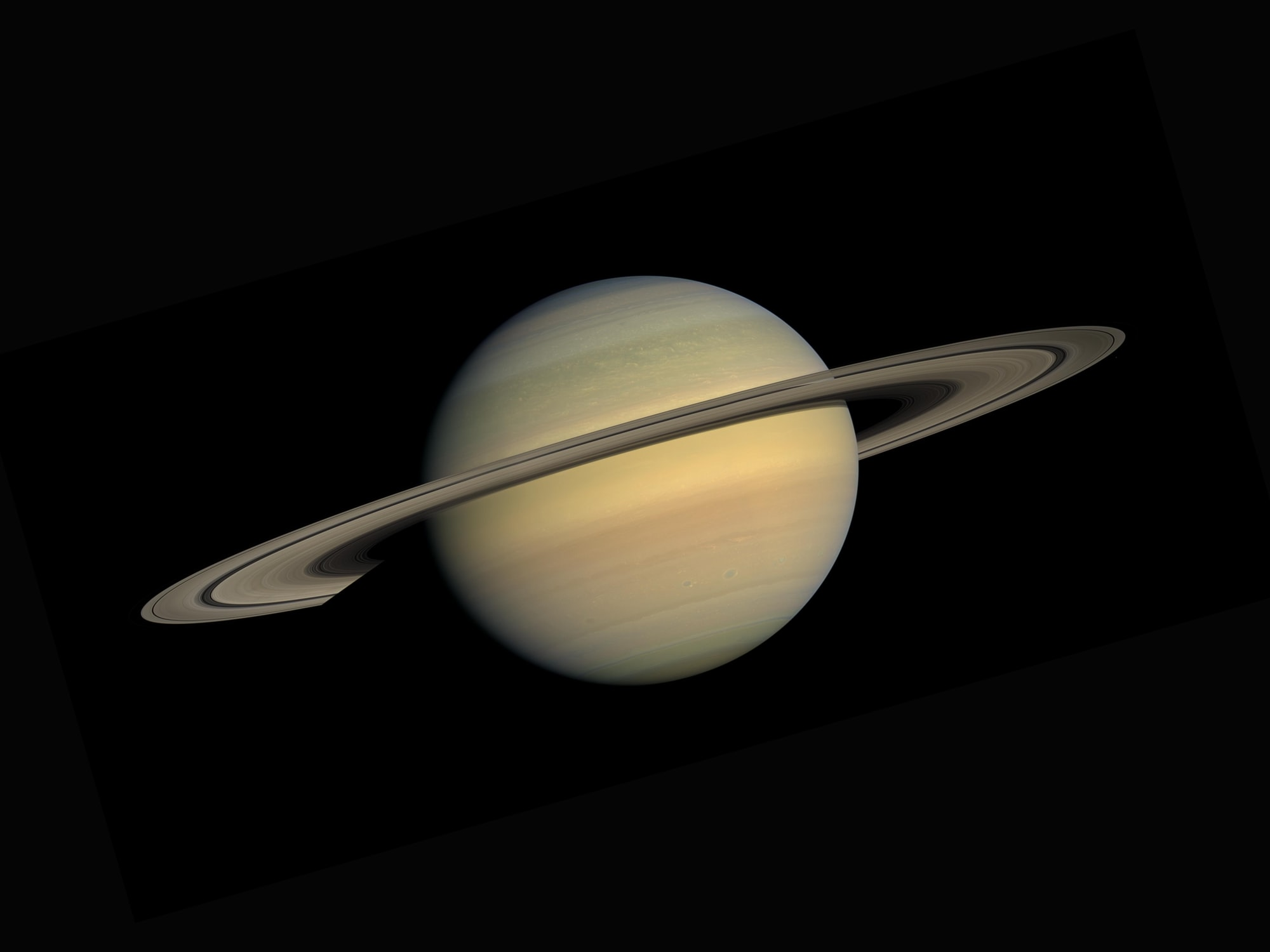 Saturn as seen from the Cassini–Huygens space-research mission