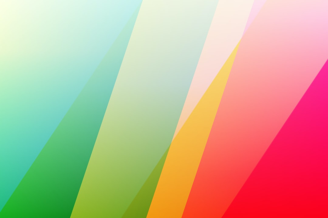 Pink Green and Yellow Striped Illustration - unsplash