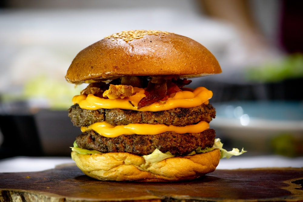 burger with patty and cheese