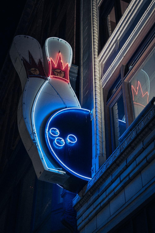 blue and white led light