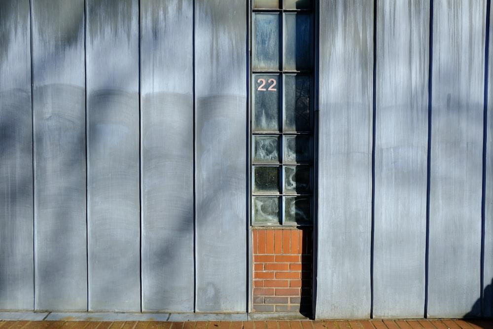 gray and brown wooden door
