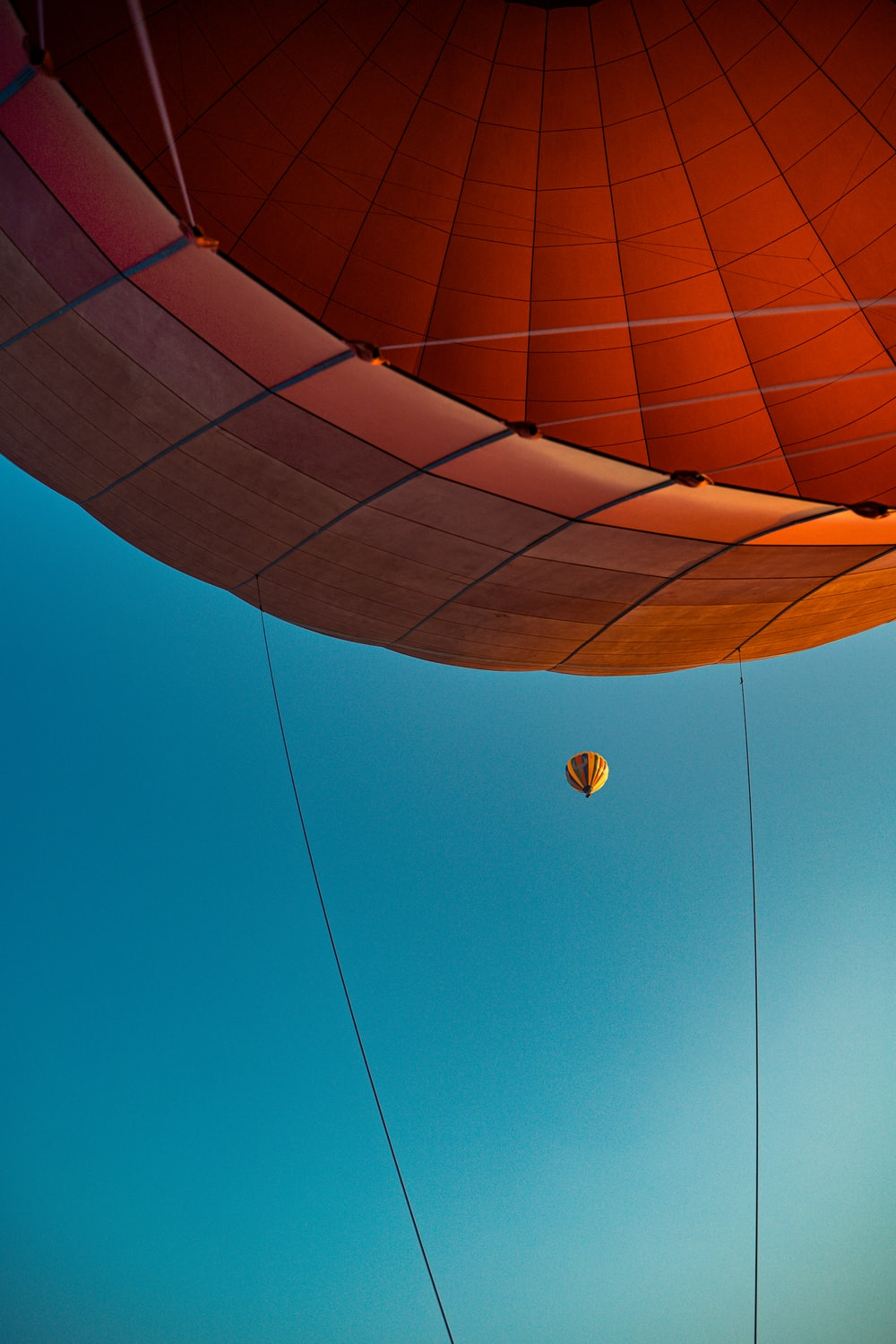 brown hot air balloon in the sky
