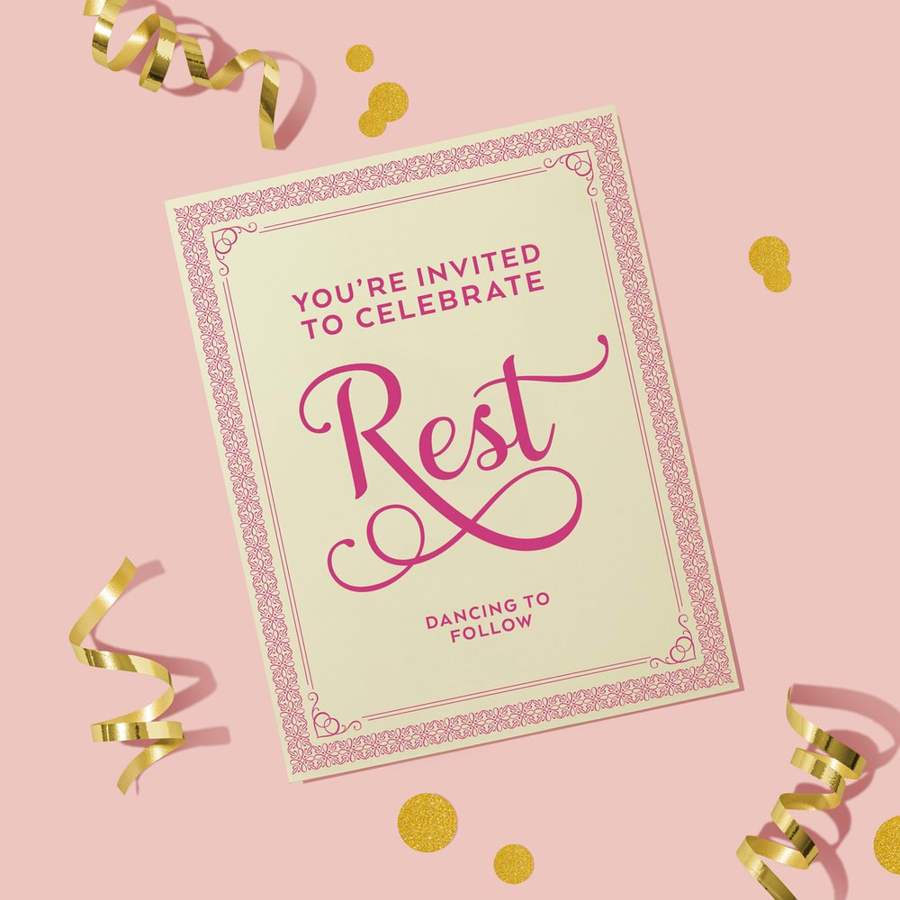 happy birthday greeting card with pink background
