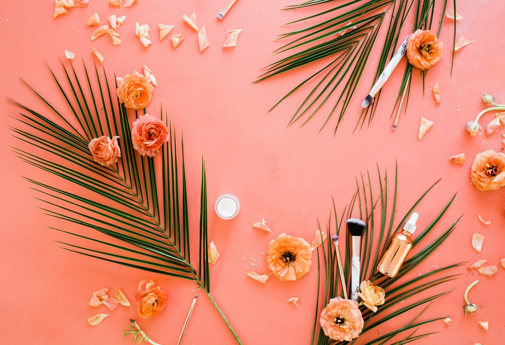 pink and white flower decors