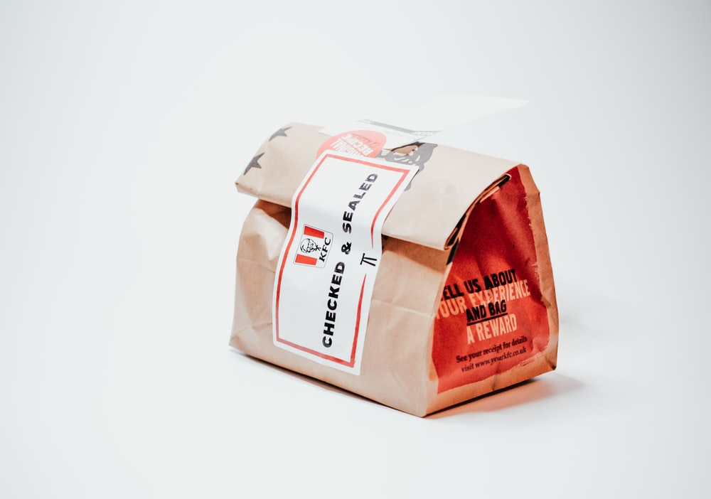 white and red plastic pack