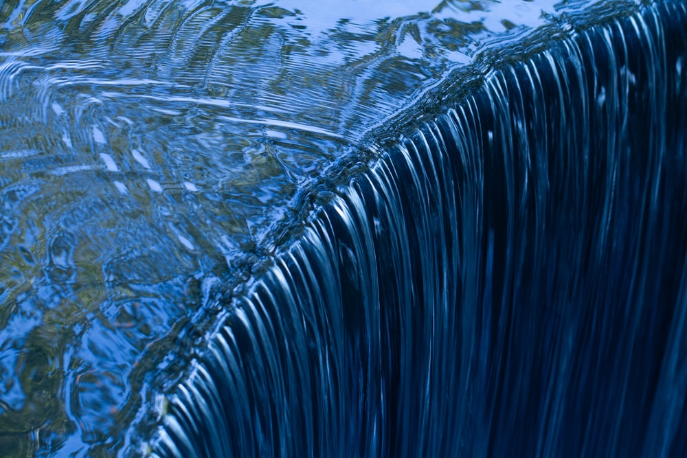 blue and white water wave