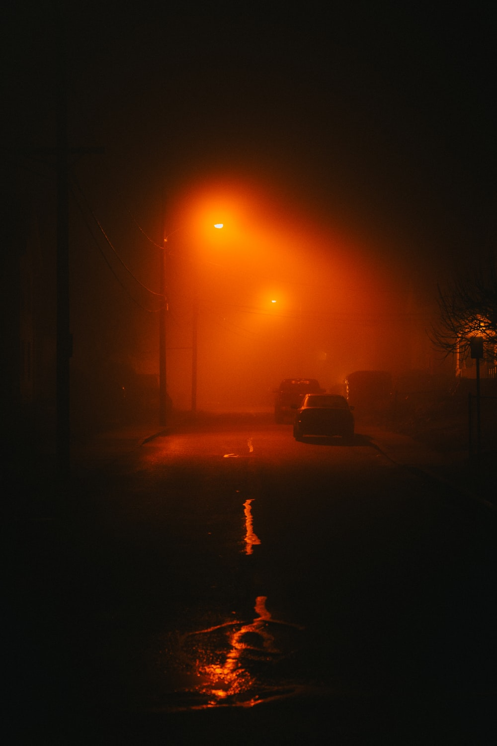 car on road during night time