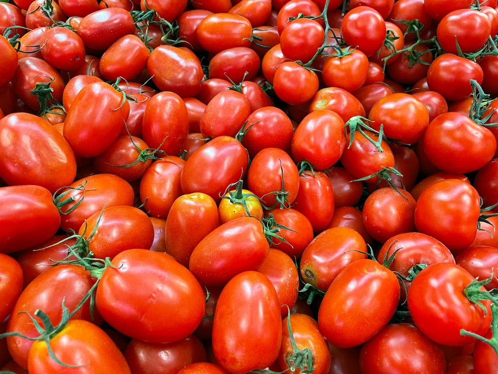 red and yellow tomato fruits