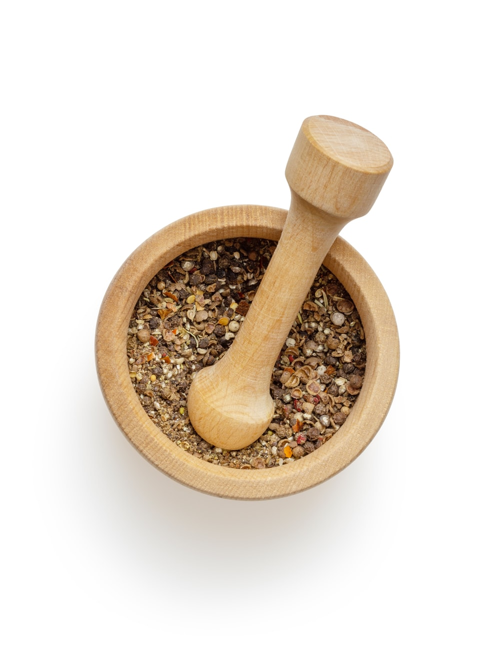 brown wooden mortar and pestle