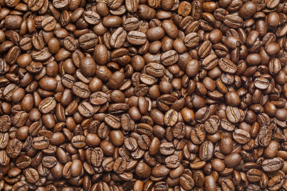 brown coffee beans on black textile