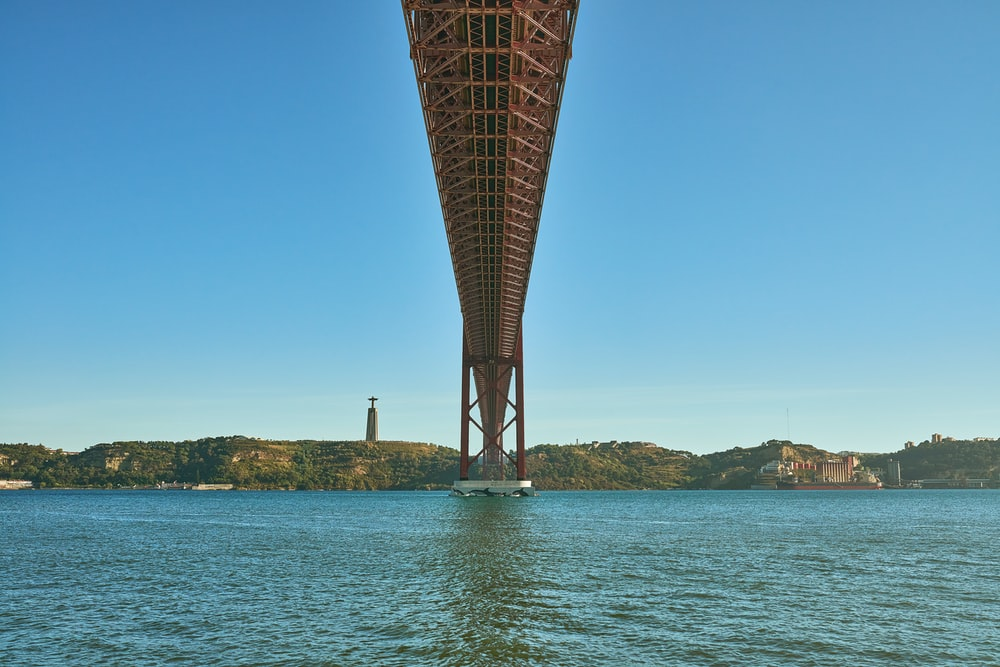 brown bridge over blue sea under blue sky during daytime