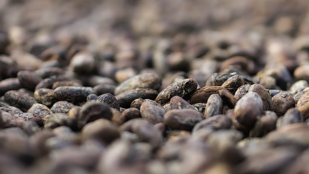brown and black coffee beans