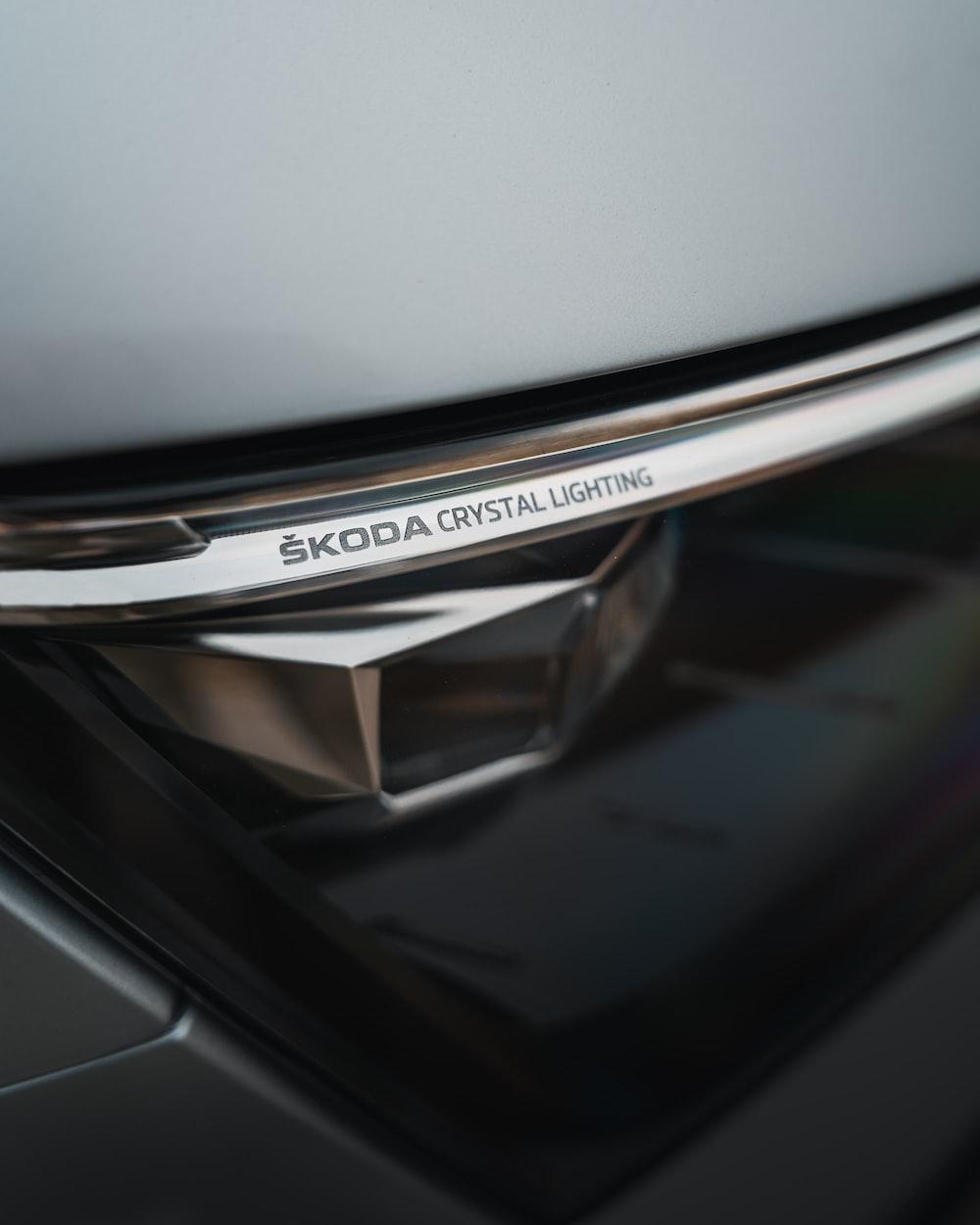 silver and black car door