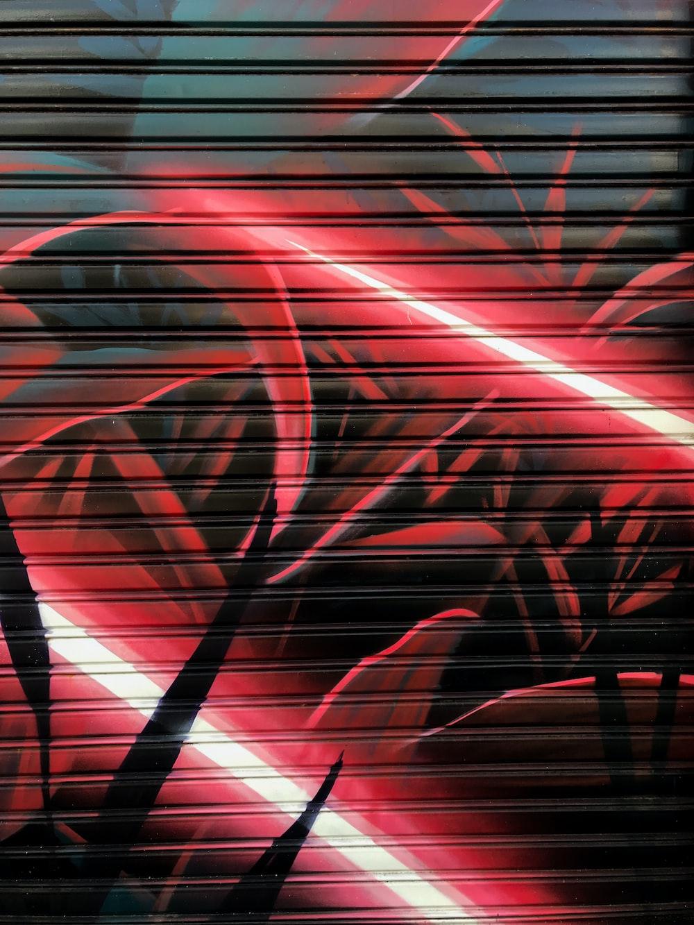 red and black light digital wallpaper