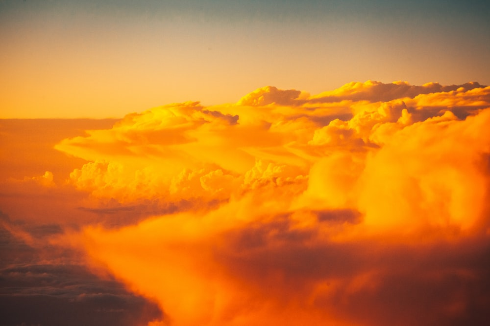 orange clouds over the clouds