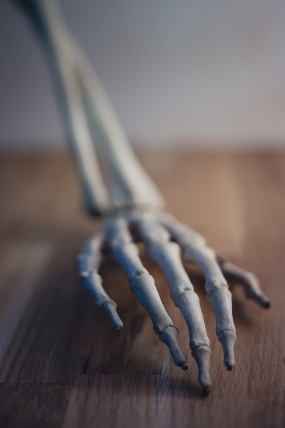 gray rope on brown wooden table