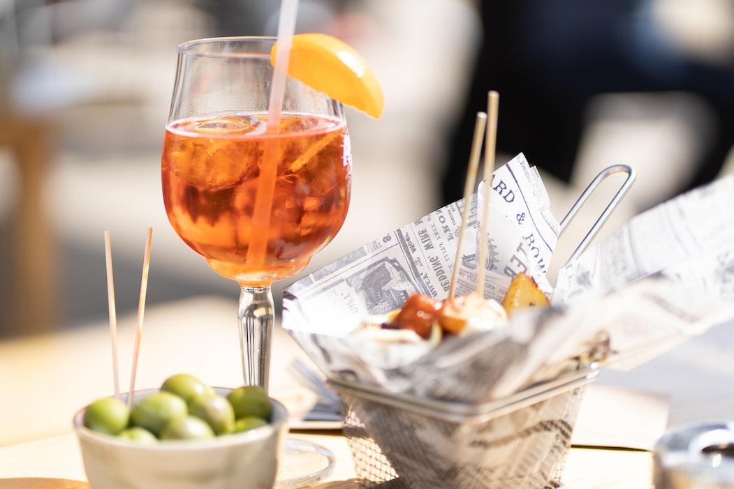Heerlijke Toscaanse cocktail, de Turbo Sea Spritz