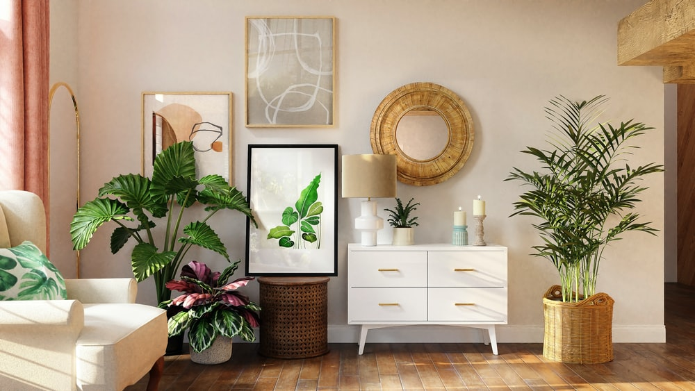 white wooden drawer with mirror