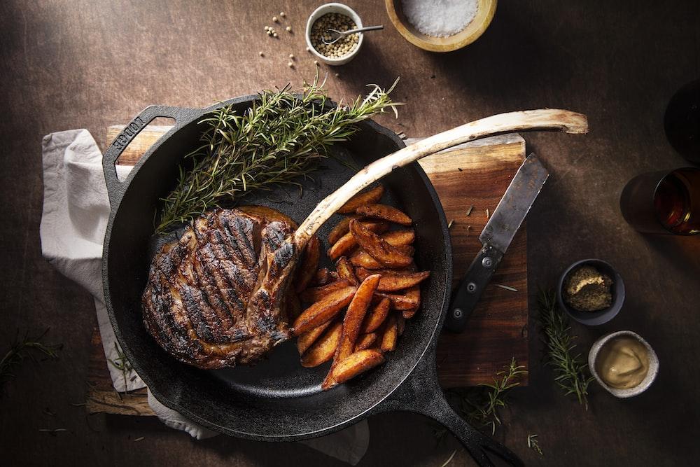 fried food on black pan