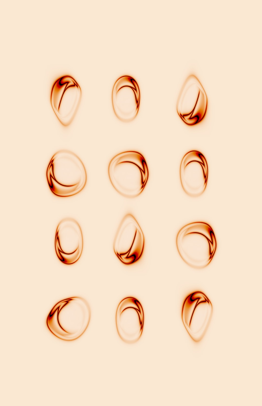 silver and gold rings on white background
