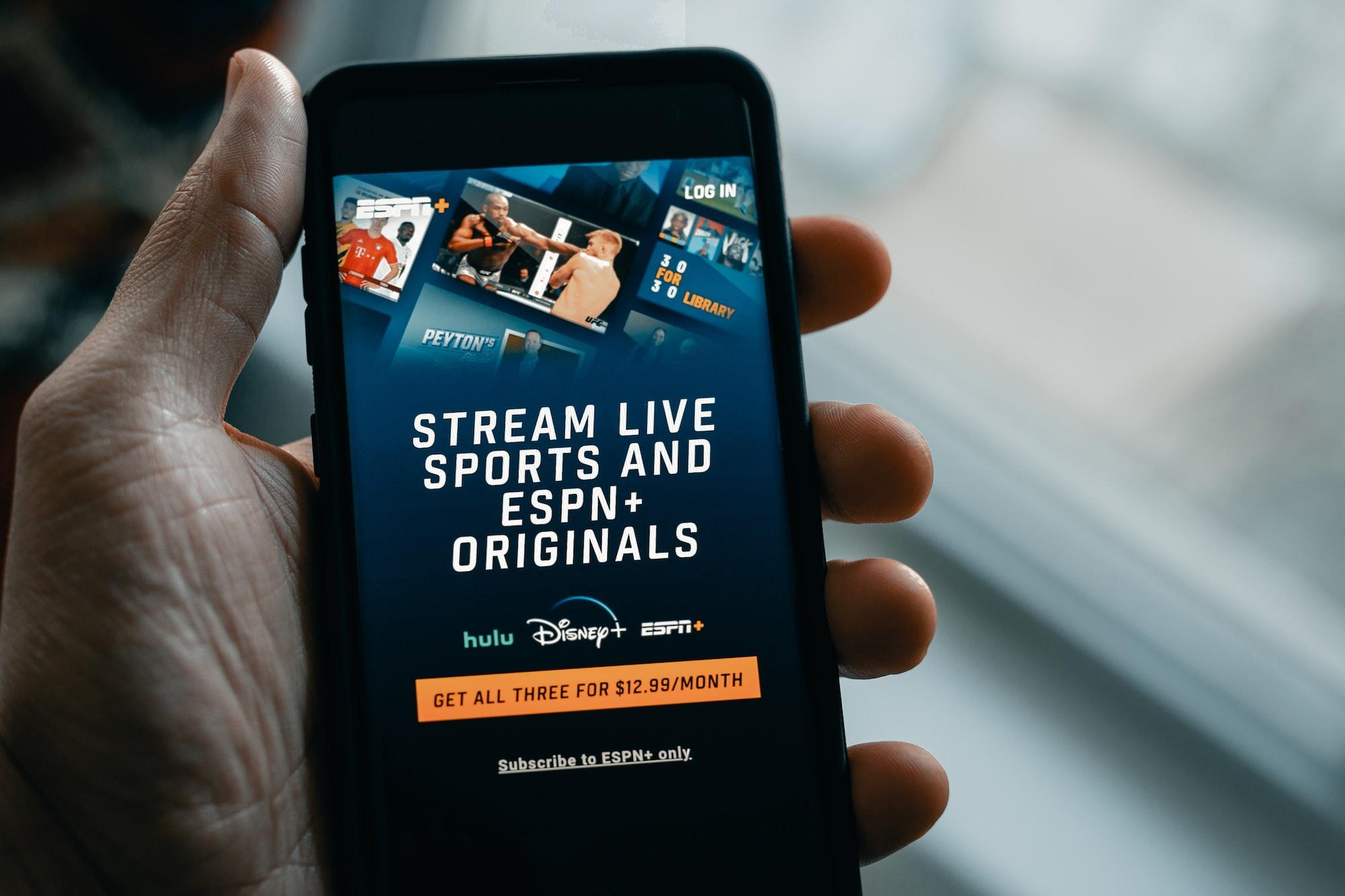 Stream live sports with ESPN Plus  Via techdaily.ca   #streaming #hulu #netflix #amazonprime #espn