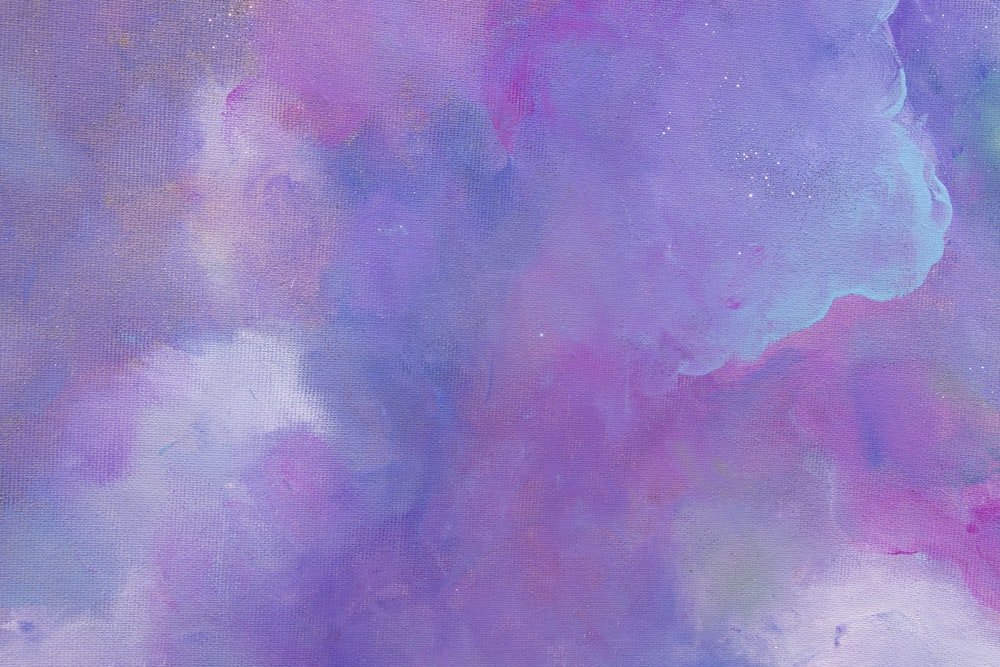 purple and pink abstract painting
