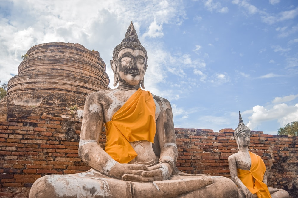 buddha statue under blue sky during daytime