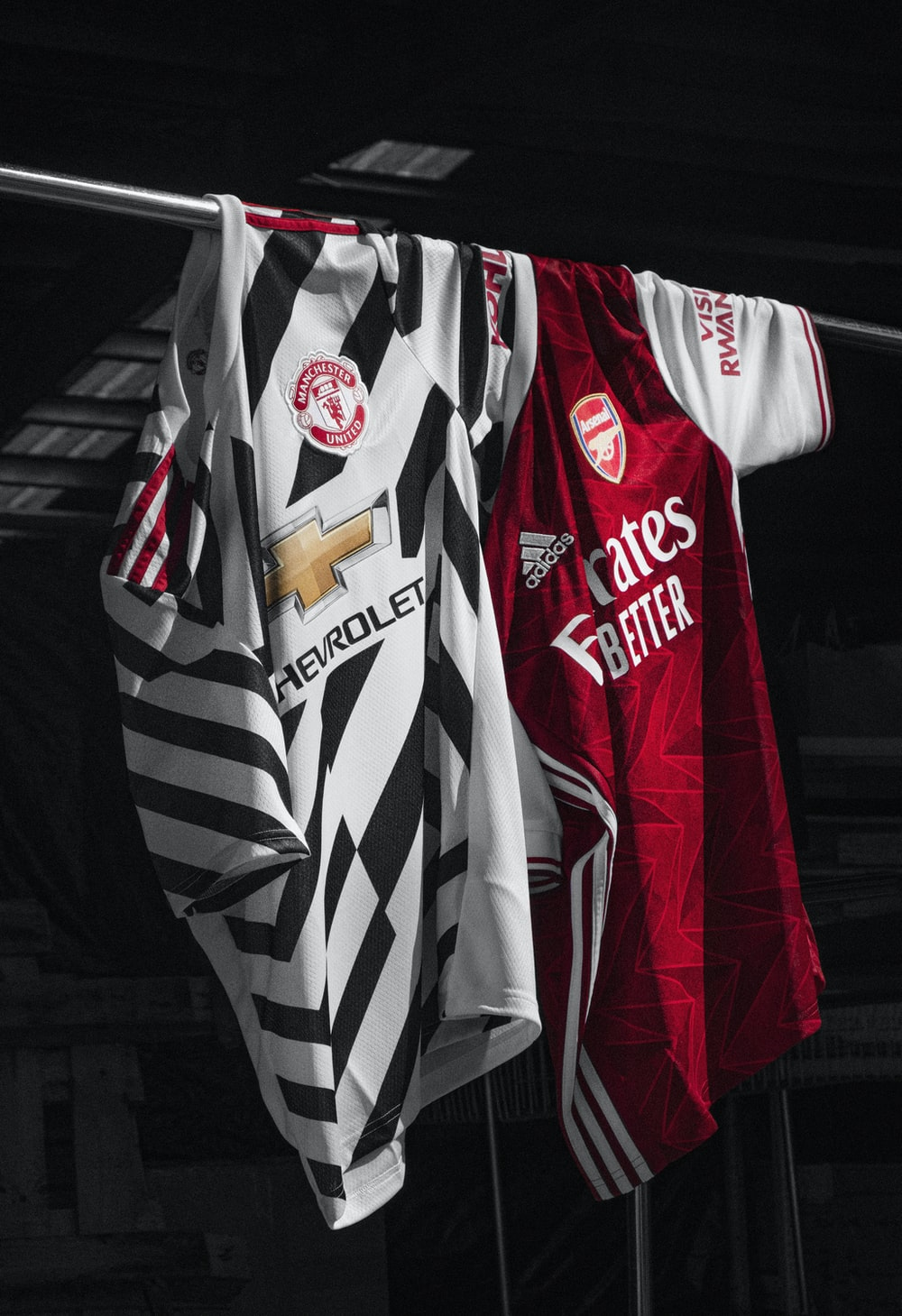 red white and black stripe jersey shirt