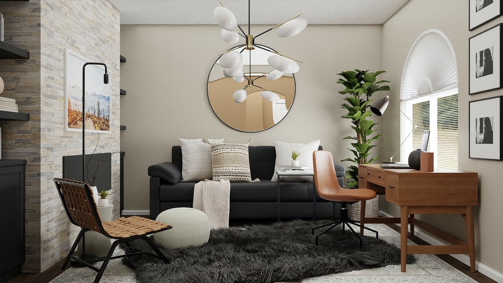white flower shaped hanging decor